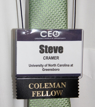My CEO and Coleman Fellow tag