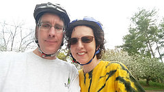 Carol and me biking