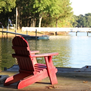 Chair on the lake