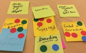 Workshop post-it notes