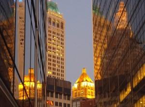 Tulsa at twilight