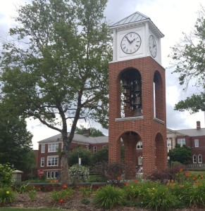 UNCG Bell Tower in summer