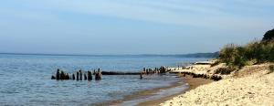 Hometown summer beach scene