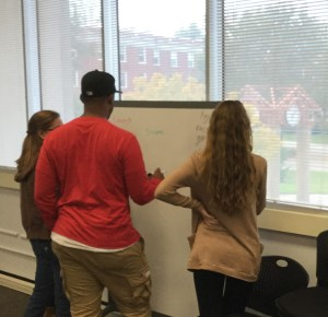 Student team planning some research