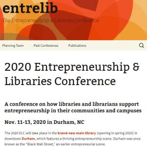 ELC 2020 homepage snapshot