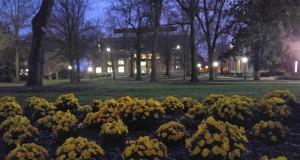 Dusk at UGA and the main library