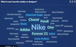 Slido 3: what is your favorite designer or fashion retailer?