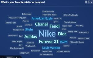 Slido 3: what is your favorite designer or fashion retailer?
